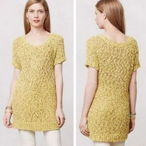 Moth Anthro S Yellow Juliet Knit Chunky Top